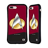 Head Case Designs Officially Licensed Star Trek Command Uniforms and Badges TNG Hybrid Case Compatible with Apple iPhone 7 Plus/iPhone 8 Plus