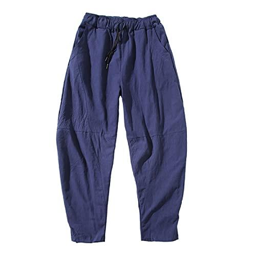 Pantalones Casuales para Hombre Four Seasons Simple Color sólido Cordón Cintura elástica Pierna Recta Suelta Pantalones Casuales de Talla Grande Pantalones de Playa de Pierna Ancha 5XL