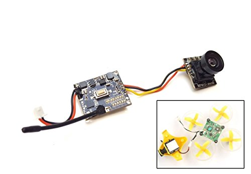 Thriverline FPV AIO Camera 600TVL CMOS Micro Cam 5.8GHz 48CH 25mW Transmitter Switchable Raceband  P / N  for Blade Inductrix Tiny Whoop etc