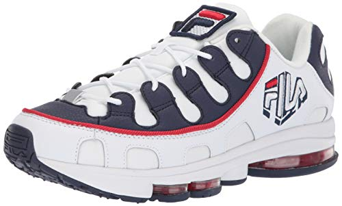 Fila Men's Silva Trainer Running Shoes White Navy Red 10