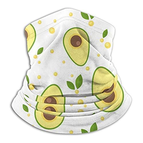 best& Aguacate - Polaina unisex para cuello, cubrebocas, pasamontañas, calentador de cuello, protección UV, reutilizable, lavable, elástica, transpirable, para yoga, correr, senderismo