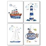 Pandawal Ahoi Poster 4er Set DIN A4 Kinder Bilder für