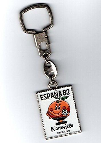 Desconocido Antiguo Llavero DE ÉPOCA Naranjito Mascota del Mundial DE FÚTBOL ESPAÑA 1982 82. Keyring Keychain. Soccer Wolrd Cup Football