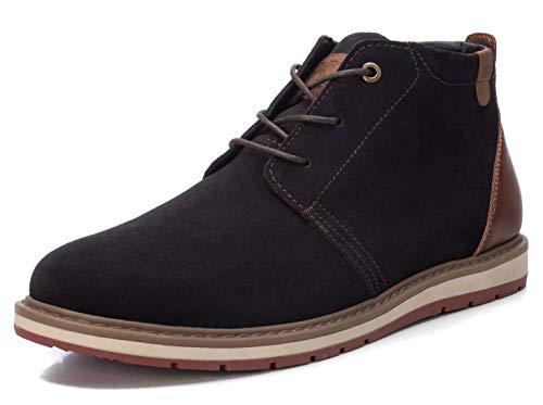 XTI - Zapato Oxford para Hombre - Cierre con Cordones - Color Marron - Talla 43