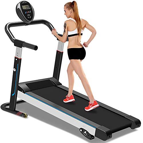 Mechanical Treadmill, Silent Folding Mini Walking Machine, Fitness Equipment Home Treadmill, with 3 Manual tilt Settings,Black