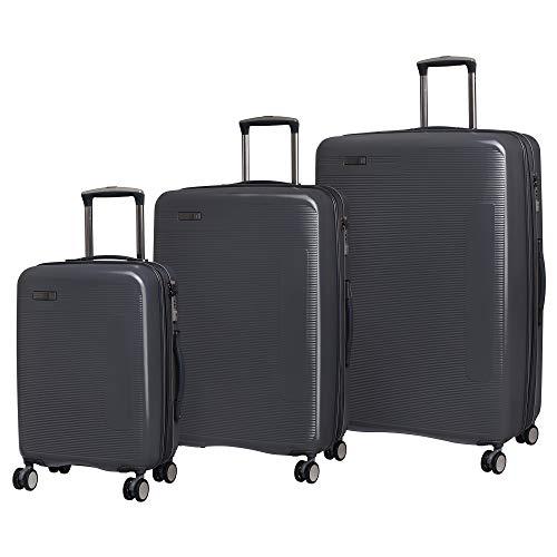 it luggage Signature 8-Wheel Hardside Expandable, Charcoal Gray, 3-Piece Set (21/28/31)
