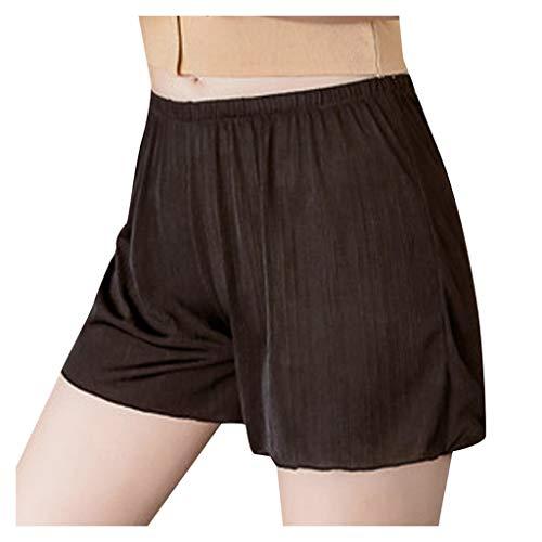 WGNNAA Damen Unterhose Boxershorts Shorts Unter Rock Kleid Kurze Hose Hotpants Sommer Sicherheit Short Weich Elastisch Leicht Groß Größen M-4XL 5 Farbe