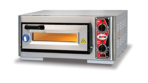 GMG Profi Pizzaofen Classic Pf 4040 E Für Gastronomie, 1 Backkammer - 1 X Ø 39 Cm Pizzen - 40X40X10Cm, Bis Zu 450 ° C, 3500 Watt - Gastro Steinbackofen Elektrisch