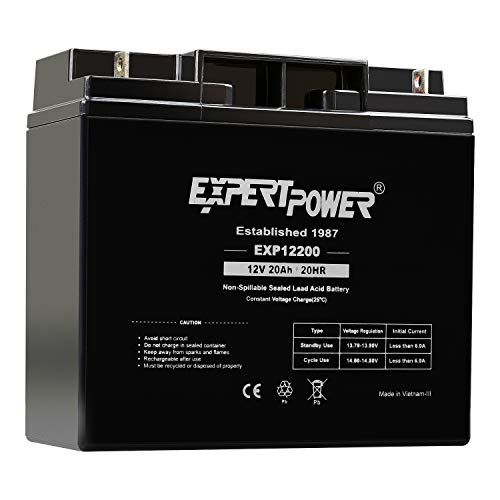 ExpertPower 12 Volt 20 Ah EXP12200 Rechargeable SLA Battery