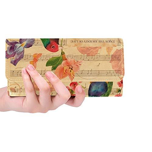 Einzigartige benutzerdefinierte viktorianischen Stil Collage Postkarte Zeichnungen Frauen Trifold Wallet Lange Geldbörse Kreditkarteninhaber Fall Handtasche