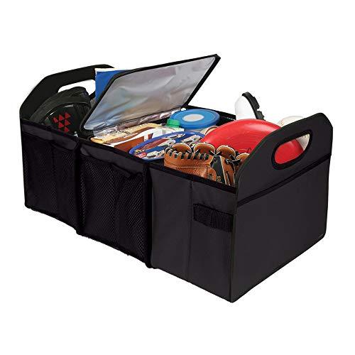 AUTOSTYLE AI91015S - Organizador Plegable para Maletero (Incluye Estuche) Compartimento de refrigeración, Color Negro