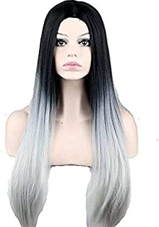 Fashion Long Straight Ombre Wig Heat Resistant Fiber Synthetic Hair