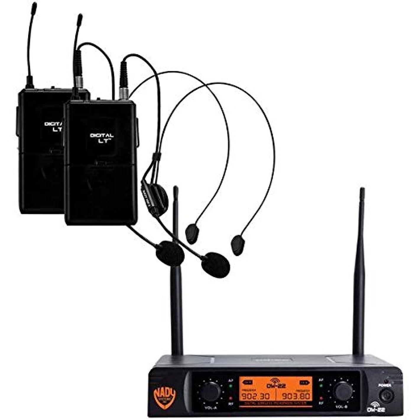 Nady(r) Dw-22-Hm-Any Dual-Transmitter Digital Wireless Microphone System (2 Digital Lt(tm) Hm-3 Headsets) 14.10in. x 12