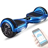 Bluewheel 6.5' Patinete eléctrico - Marca de calidad alemana - Hoverboard con Sistema de Seguridad para Niños, Altavoz Bluetooth y Luces LED, 2 Motores de 700W - Patín Eléctrico Auto Equilibrio HX310s