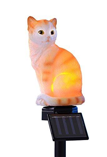 joka international GmbH Solar Stableuchte sitzendes Kätzchen Beleuchtung rot/weiß sitzende Katze 14908