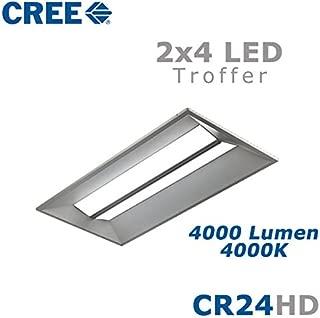 CREE CR24-40L-40K-S-HD 44 Watt 2x4 LED Troffer Light Fixture Step Dimming 4000K