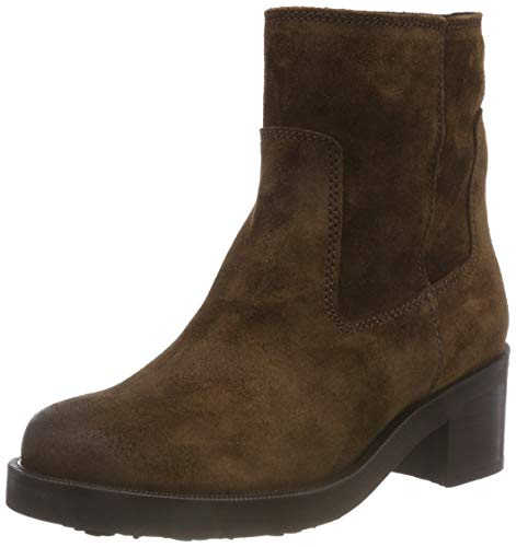 Hilfiger Denim Damen Essential Suede Biker Boots, Braun (Coffee Bean 212), 39 EU