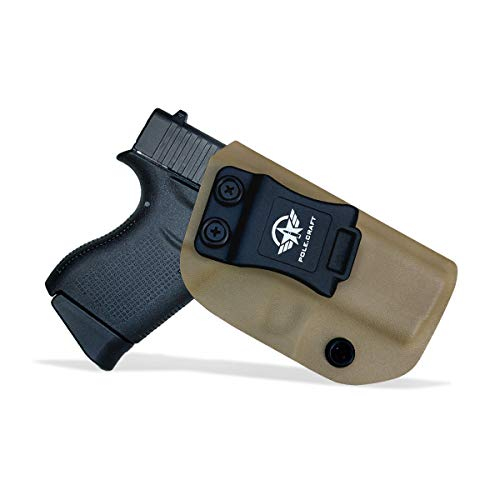 Glock 43 Holster, Glock 43X Holster IWB Kydex Holster for Glock 43 / Glock 43X Pistol Concealed Carry - Inside Waistband Carry Concealed Holster Glock 43 IWB Kydex (Tan, Right Hand)