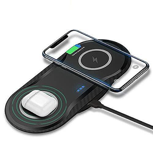 Mawwanta Wireless Charger Pad, 15W Qi Wireless Charger, schnelles kabelloses Ladegerät für Mobiltelefone Schnellladestation/Dock, zum Aufladen elektronischer Geräte