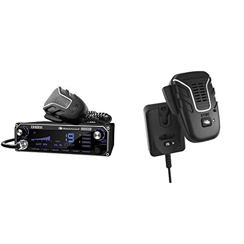 Uniden Bearcat 980 40- Channel SSB CB Radio with Sideband NOAA WeatherBand & BC906W Wireless CB Microphone and Speaker in a Single Unit, Up to 100 Yard Range, Smart Power Save