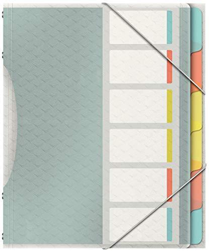 Esselte Colour\'Ice Ordnungsmappe, A4, 6 Fächer, PP, Mehrfarbig, 626255