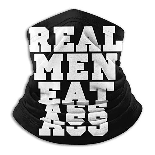Real Men Eat Ass Logo Bandana,Pasamontañas transpirable lavable reutilizable suave,Polaina de cuello transpirable