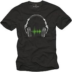 Camiseta Musica Hip Hop - Auriculares Hombre
