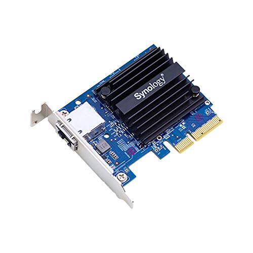 Synology E10G18-T1 Eingebaut Ethernet 10000Mbit/s Netzwerkkarte (intern, kabelgebunden, Pci-E, Ethernet, 10000 Mbit/S, Schwarz, blau)