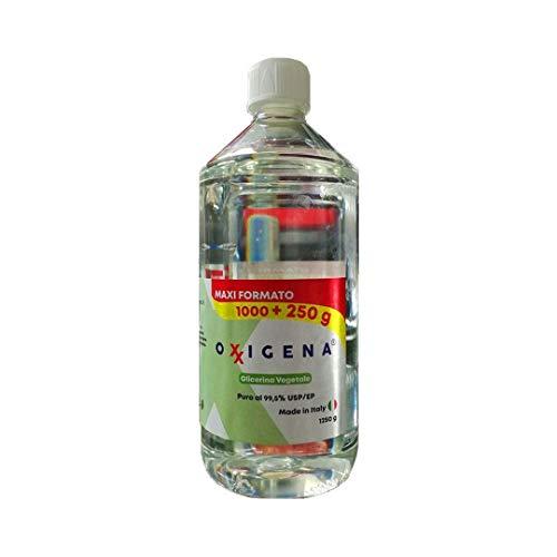 Glicerina Vegetale Oxxigena (Glicerolo) Liquida Pura 1L (1000g + 250g)