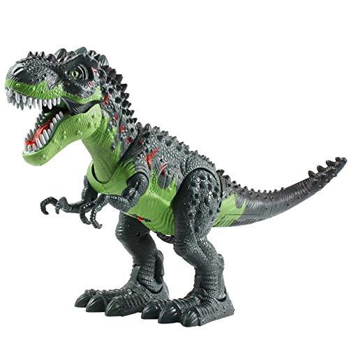 tyuiop Dinosaurio Que Camina RC, Juguete de Dinosaurio Tyrannosaurus para Niños Spray De Llama Simulada con Ligero y Sonidos Realistas, 45 * 14 * 22cm