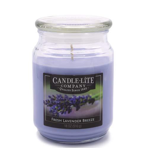 Candle-lite - Duftkerze im Glas, Fresh Lavender Breeze 510g, Lila, 10 x 10 x 14.5 cm