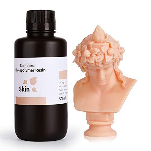 ELEGOO LCD UV 405nm Resina Rapida per Stampante 3D LCD 500g Resina Fotopolimerica Colore della pelle