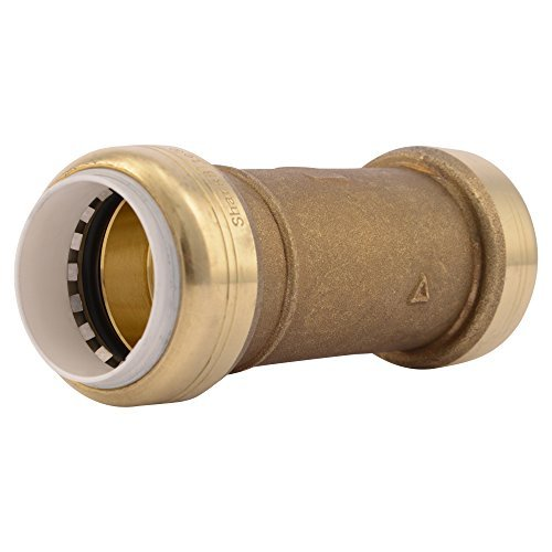 SharkBite PVC Fitting UIP3020A 1 inch X 1 inch, PVC Connector for PVC Pipe Repair by SharkBite