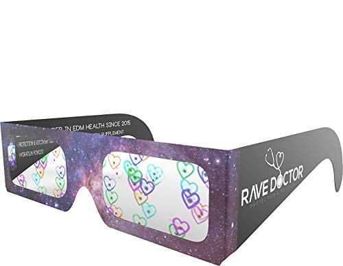 Heart Diffraction Glasses, Rave Glasses, Paper Refraction Glasses (25 Set)