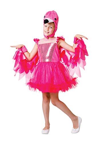 Bristol Novelty CF224L Disfraz de flamenco para nias, talla grande, rosa, 9-11 aos