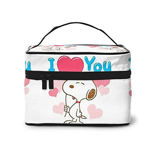 Makeup Bag, I Love You Travel Portable Cosmetic Bag Large Pouch Mesh B Organizer Toiletry Bag for Women Girls