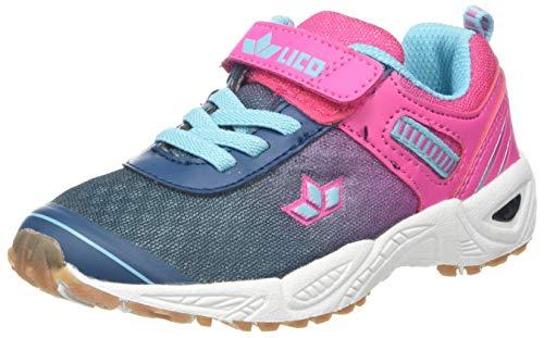 Lico Mädchen Barney VS Multisport Indoor Schuhe, Blau (Marine/Pink/Türkis), 35 EU