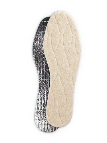 Collonil 3 Schicht Aluminium Thermosohle für Kinder und Erwachsene + Rema Einlagenbeutel (45, Beige)