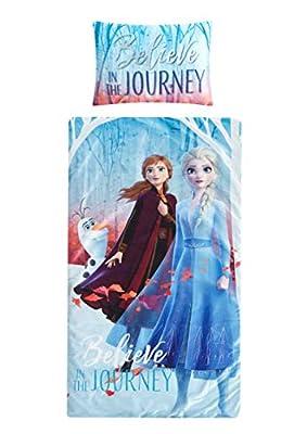 Disney Frozen 2 Sleeping Bag with Pillow Set, Featuring Anna & Elsa
