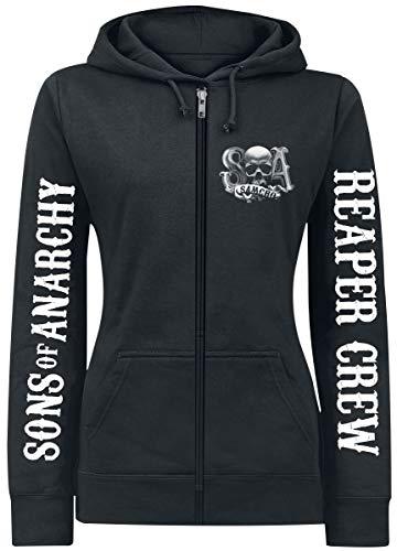 Sons of Anarchy Reaper Crew Mujer Capucha con Cremallera Negro M