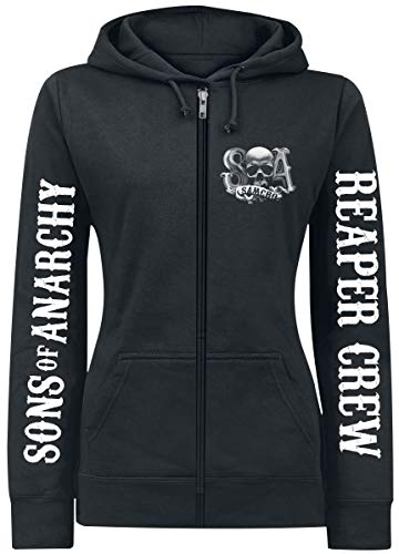 Sons of Anarchy Reaper Crew Frauen Kapuzenjacke schwarz M