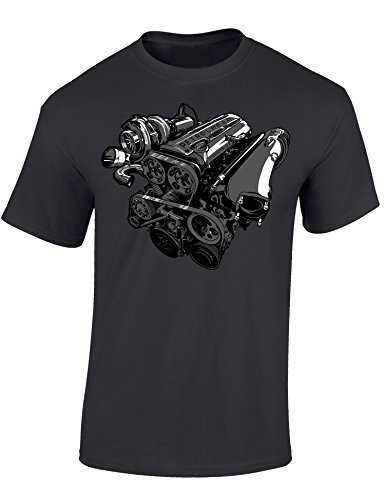 Petrolhead: 2JZ-GTE Turbo - Camiseta Motor - Regalo Hombre - T-Shirt Racing - Camisetas Coches - Tuning - Moto - Coche - Car - Cafe Racer - Biker - Rally - JDM - Motores - Unisex (XL)