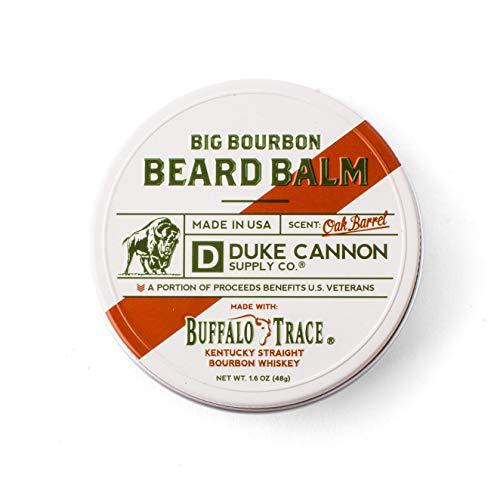 Duke Cannon Supply Co. - Big Bourbon Beard Balm, Bourbon Oak Barrel (1.6 oz), Made with Buffalo Trace, Paraben-Free Beard Care Moisturizer and Softener - Bourbon Oak Barrel Scent, white