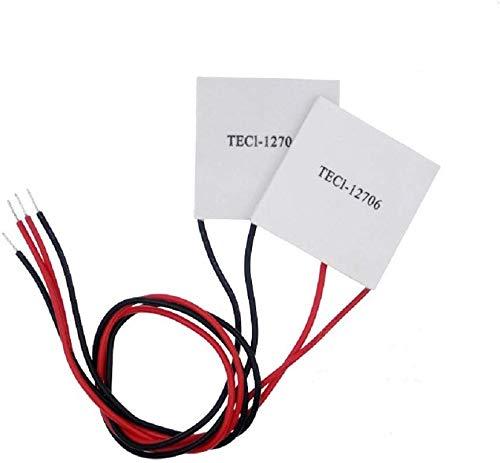 DollaTek 2Pcs TEC1-12706 40x40MM Piastra di refrigerazione Peltier di Raffreddamento termoelettrica