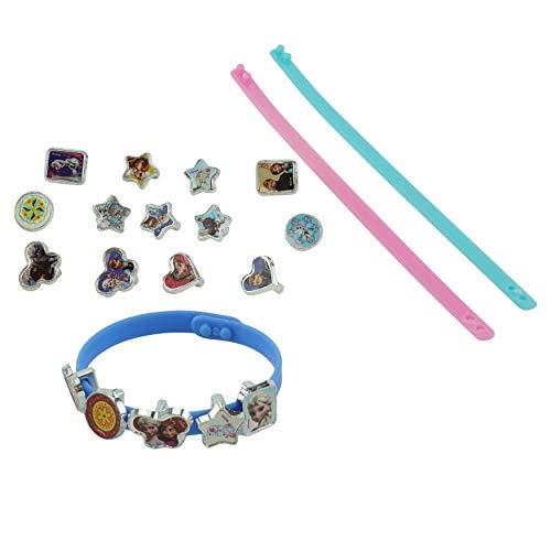 HOVUK - Juego de pulsera de plástico con estampado de personajes de Frozen multicolor, para niñas de 3 años