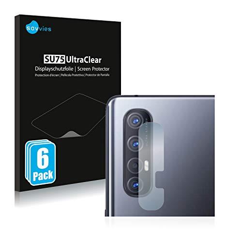 Savvies 6X Schutzfolie kompatibel mit Oppo Find X2 Neo (Kamera) Bildschirmschutz-Folie Ultra-transparent