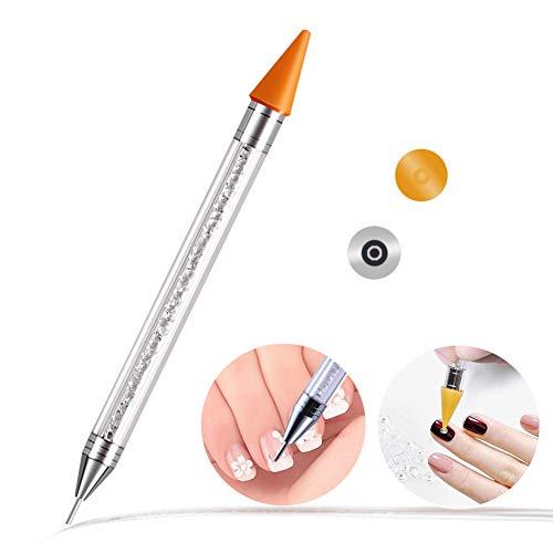 Keyzone Dotting Pen Nagellack stift Dual Ended Nail Art Wachs Spitze Bleistift für Nagel Strass Perlen Nieten Edelsteine Kristall Steine Selbstklebend