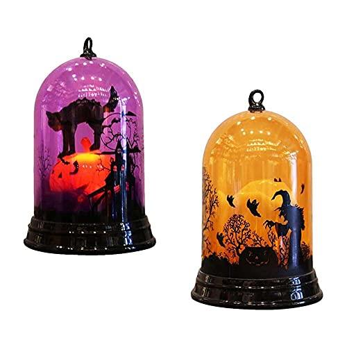 nanxing 2pcs lámpara decorativa de Halloween que cambia de color de la noche de la luz de escritorio de la linterna de la fiesta Props de