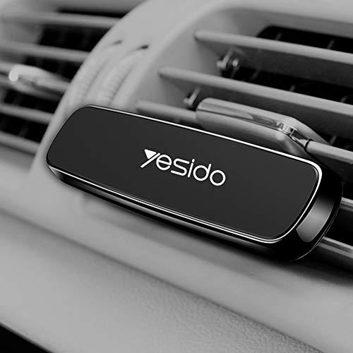 Yesido - Soporte magnético universal para coche para rejillas de ventilación de aire con placa para iPhone X, 6/7/8 Plus, Samsung Galaxy S7/S8/S9 Note 8/9 y todos los smartphones