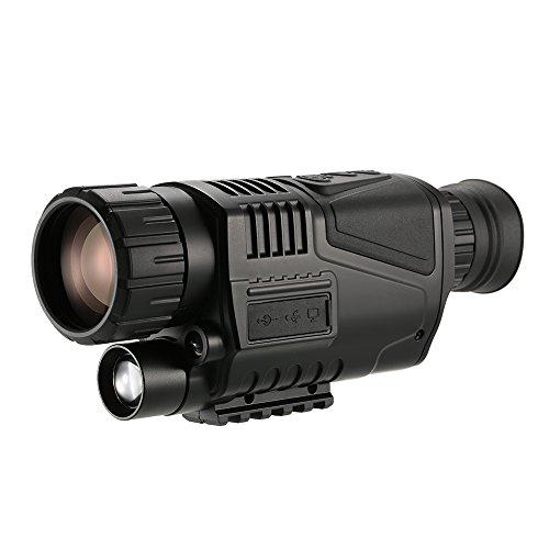Benkeg Visión Nocturna Monocular - Telescopio monocular de visión Nocturna Digital Multifuncional 5x40 con cámara Grabadora de Video...